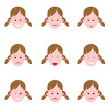 Emotions of a young girl Stock Image