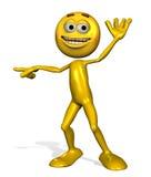 emotiperson указывая усмехаться иллюстрация вектора