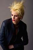 Emotive beautiful punk blond girl. Emotive attractive beautiful punk blond girl Stock Photos
