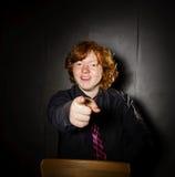 Emotive portrait of red-haired freckled boy, childhood concept Stock Images
