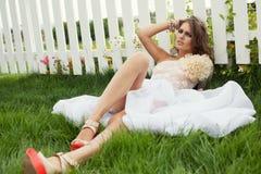 Emotive portrait of stylish model Stock Image