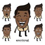 7 emozionali Immagini Stock