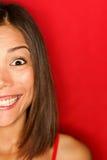 Emozionante felice della ragazza Fotografia Stock Libera da Diritti