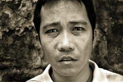 Emozione del ritratto dell'uomo Fotografie Stock