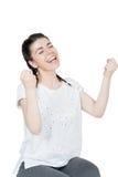Emozione di successo Immagine Stock