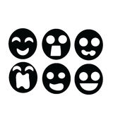 Emozione nera della maschera Fotografia Stock