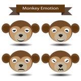 Emozione quattro del fronte della scimmia Immagini Stock