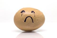 Emozione triste irrotta uova Fotografia Stock Libera da Diritti