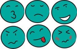 Emozione verde del fronte Immagini Stock