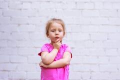 Emozioni del ` s dei bambini riflessione durante vita Fotografia Stock Libera da Diritti