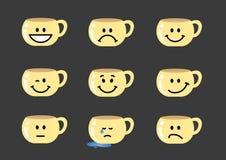 Emozioni del tazza da the Fotografia Stock Libera da Diritti