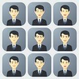 Emozioni dell'uomo d'affari Immagine Stock Libera da Diritti