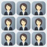 Emozioni della donna di affari Immagini Stock