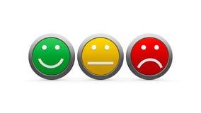 Emozioni delle icone Fotografia Stock Libera da Diritti