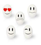 Emozioni divertenti delle uova di Pasqua Fotografia Stock Libera da Diritti