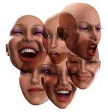 Emozioni femminili 5 illustrazione di stock