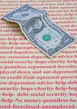 Empêché ; mon dernier dollar. Image stock