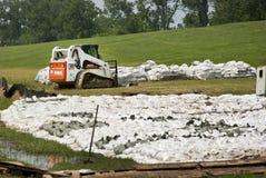 Empêchement d'inondation de Fleuve Mississippi Photo stock