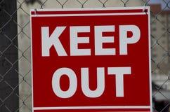 Empêchez d'entrer le signe Photo libre de droits