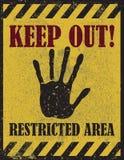 Empêchez d'entrer le signe, avertissant Photographie stock libre de droits