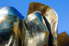 The EMP Museum. Vibrant colors of the sheet metal facade of the ultra-modern EMP Museum are reflected in the sun. The 140,000-square-foot museum at the Seattle Stock Images