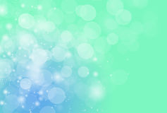 Empañe el fondo y el papel pintado azulverdes del efecto del kight del bokeh Foto de archivo libre de regalías