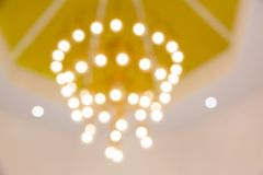 Empañe la imagen de la lámpara, bokeh de la lámpara Textura, modelo, fondo fotos de archivo libres de regalías