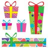 Empacotamento colorido da caixa Projeto de empacotamento e projeto do teste padrão para a caixa Imagens de Stock Royalty Free