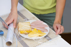 Empacotamento de alimento Home Imagens de Stock Royalty Free
