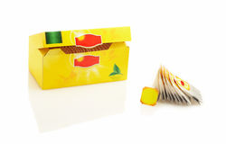 Empacotamento do chá Foto de Stock