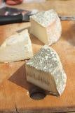 Empacotamento orgânico do queijo Imagem de Stock Royalty Free