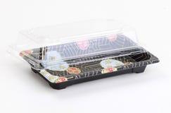 Empacotamento plástico do sushi Imagens de Stock