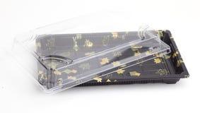 Empacotamento plástico do sushi Fotografia de Stock Royalty Free
