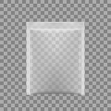 Empacotamento transparente para petiscos, microplaquetas, açúcar, especiarias, ou o outro alimento Imagens de Stock