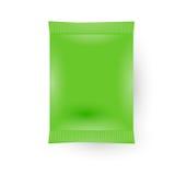 Empacotamento vazio verde do saco do saquinho Foto de Stock Royalty Free