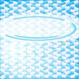 Empacotar--tabuleta-comprimido-fundo-azul-etiqueta ilustração stock