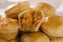 Empada Braziliaanse snack pastei met garnalen stock afbeeldingen