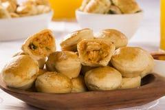 Empada Brazilian snack. pie with shrimp Royalty Free Stock Images