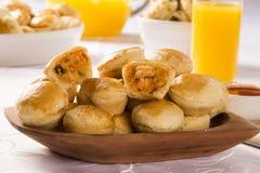 Empada Brazilian snack. pie with shrimp Royalty Free Stock Photography