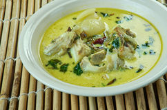 Empal gentong. Indonesia spicy curry-like beef soup originated from Cirebon, West Java Stock Photos