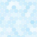 Empalideça - o teste padrão sem emenda do vetor azul com círculos Foto de Stock Royalty Free