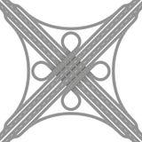 Empalme de camino del intercambio de la hoja de trébol ilustración del vector