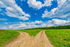 Empalme de dos caminos Imagen de archivo