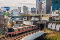 Empalme del tren de Ochanomizu en Tokio fotografía de archivo