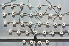 Empalmes eléctricos Foto de archivo