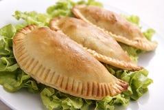 鸡empanada 图库摄影