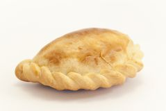 Empanada. In the foreground with white background Stock Images