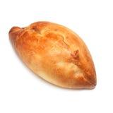 Empanada apetitosa, en blanco Foto de archivo