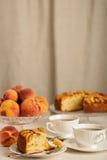 Empanada aromática deliciosa hecha en casa del melocotón Foto de archivo