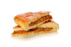Empanada cocida fresca que rellena con la col fotografía de archivo